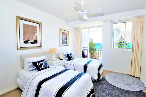 34. Indigo-Blue_Burleigh -Unit 21-2BR Twin Bedroom